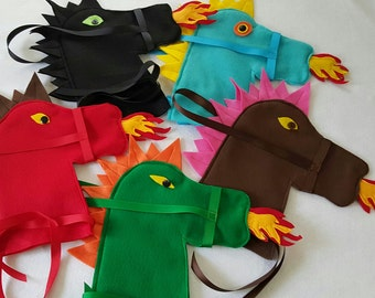 Dragon Party Favor, Dragon Toy Craft, Stick Horse Dragon DIY (Head Only), Kid Activity