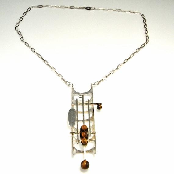 Brutalist Necklace Brutalist Jewelry Geometric Nec