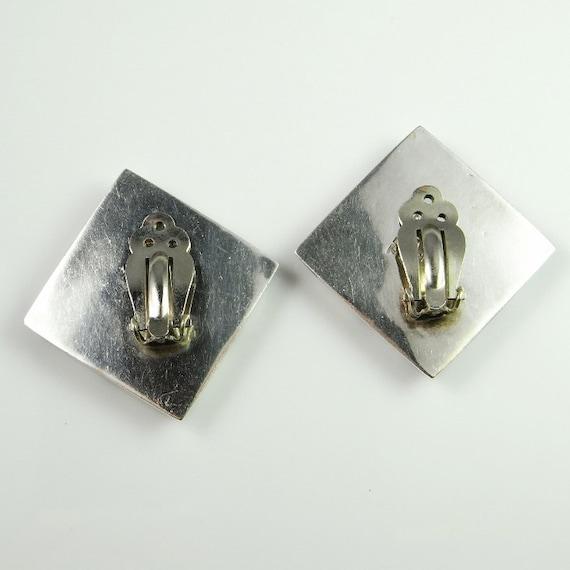 Zebra Square Earrings Mexican jewelry Minimalist … - image 4