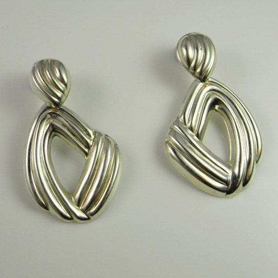 Abstract earrings 80s earrings Statement earrings… - image 3