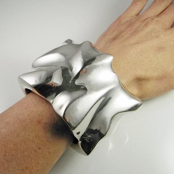 Electroformed Jewelry Silver Bangle Cuff Bracelet
