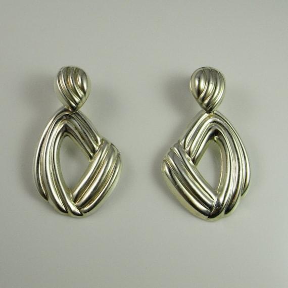 Abstract earrings 80s earrings Statement earrings… - image 2