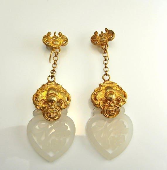 Mutton Fat Jade Earrings Mutton Fat Jade Jewelry A
