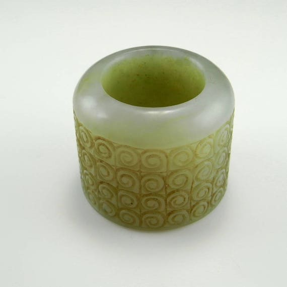 Jade Thumb Ring Qing Dynasty Nephrite