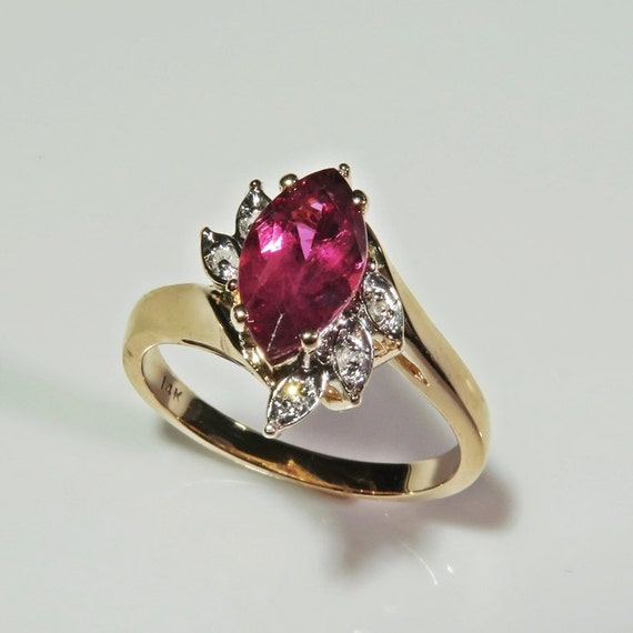 Purple Sapphire Engagement Ring Pink Sapphire Ring