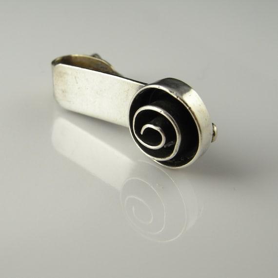 Swirl Handmade Tie Clasp Tie Bar Tie Clip Tie Pin