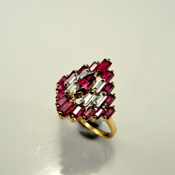 Natural Red Ruby Diamond Ring Natural Ruby Ring 14