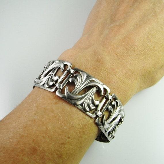 Art Deco Silver Bracelet Art Deco Jewelry German J