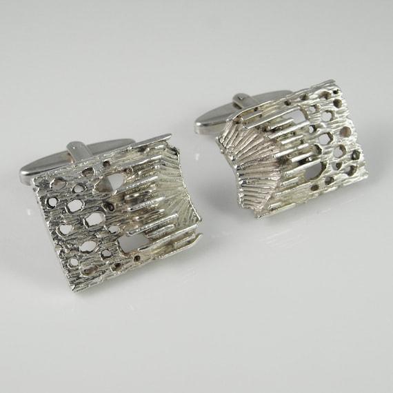 Vintage Cuff Links Unique Cuff Links Silver Cuff L