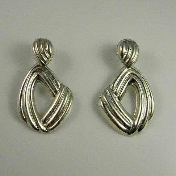 Abstract earrings 80s earrings Statement earrings… - image 5