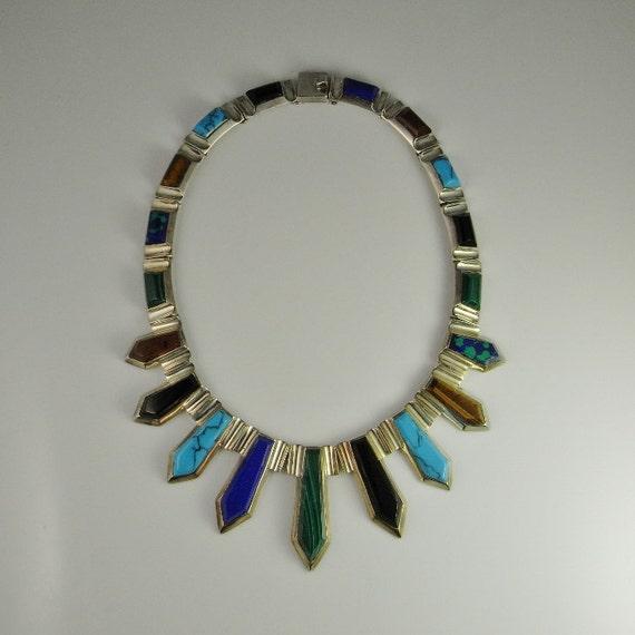 Egyptian Revival Jewelry Nefertiti Necklace Statem