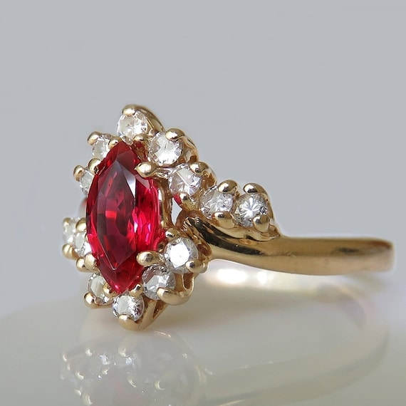 BURMESE NO HEAT Unheated Ruby Ring Natural Ruby Ri