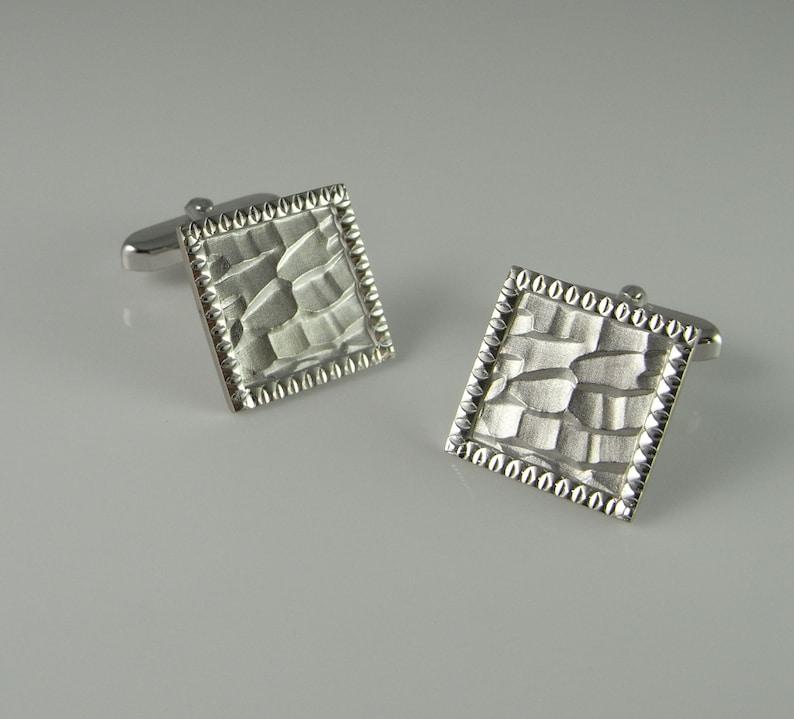 Vintage cufflinks antique cufflinks art deco cufflinks silver cuff links mens cufflinks mens cuff links antique cuff links wedding  R2597