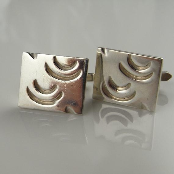 Sterling cuff links unique cufflinks mens cufflink