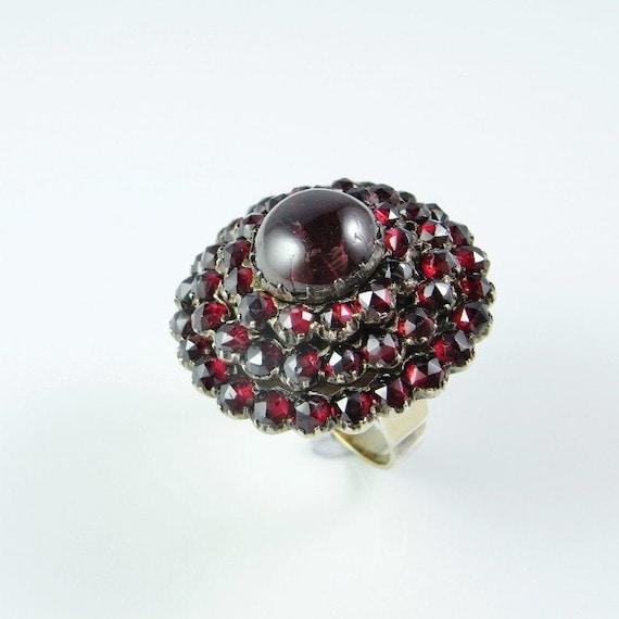 Bohemian Garnet Ring Bohemian Garnet Jewelry Red G