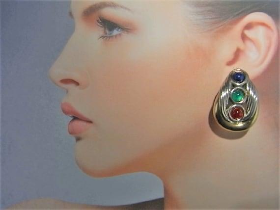 Cabochon Earrings Lapis Earrings Chrysoprase Earri