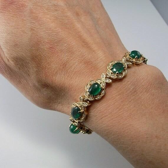 Emerald bracelet rush gold filled 14 K