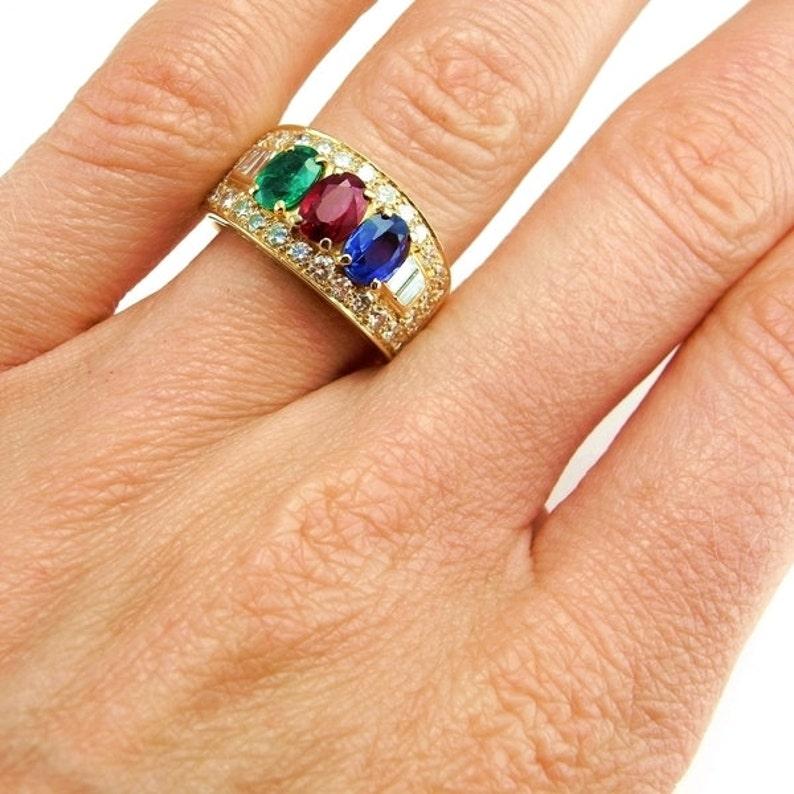 4a67966fae62 Bvlgari Bulgari 18K Gold Ring Diamond Ring Ruby Ring Ruby
