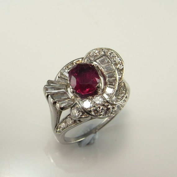 NO HEAT RUBY Ring Unheated Ruby Ring Natural Red R