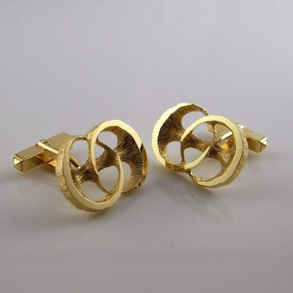 Gold Cufflinks Unique Mens Jewelry Mens Cuff Links