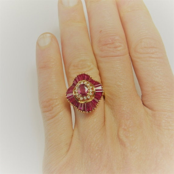 VIVID RED RUBY Ring Natural Ruby Ring Ruby Balleri