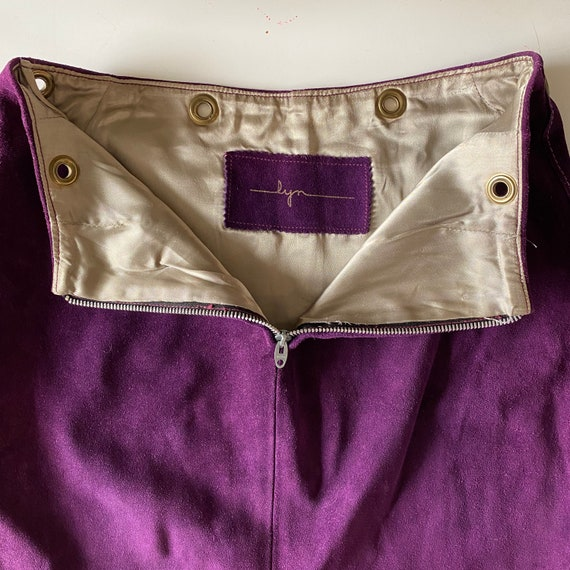 1960s Purple Suede Mini Skirt - image 5
