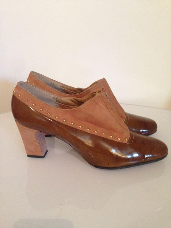 1960s Mod Brown Suede Shoes