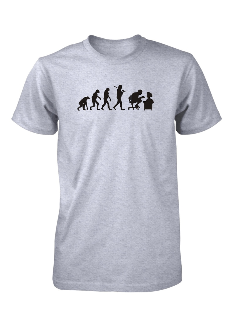 f68de11a Evolution of Man Computer Funny T-Shirt Geek Nerd Gamer School | Etsy