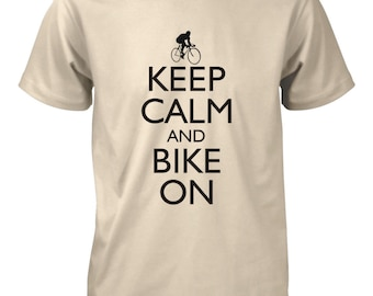 Keep Calm and Bike On T-Shirt for Men