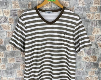 c542d79060 Vintage 80 s Lheure Stripes Tshirt Large 90 s Rockabilly Striped Border  Skaters Old School Grunge Og Streetwear Women Men Tshirt Size L