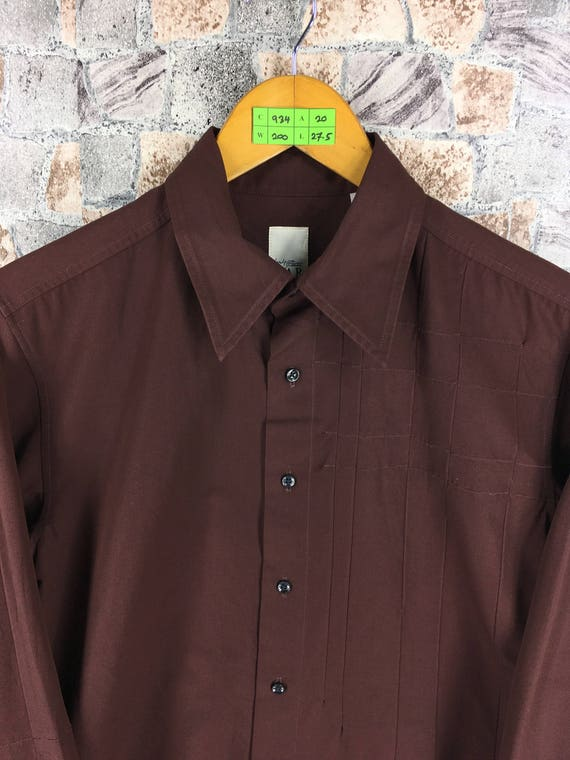 Oxfords Shirt Yamamoto Durban Y's Yohji Japan Designer Medium M Brown Men Buttondown For Mens AAR Size TH7q1q