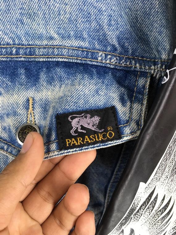 Harley Stoned Medium Eagles Denim PARASUCO Jeans Size Jeans 80s Blue Vintage Jacket M Denim Jacket Button Wash Style Jacket Biker xRvqdPw