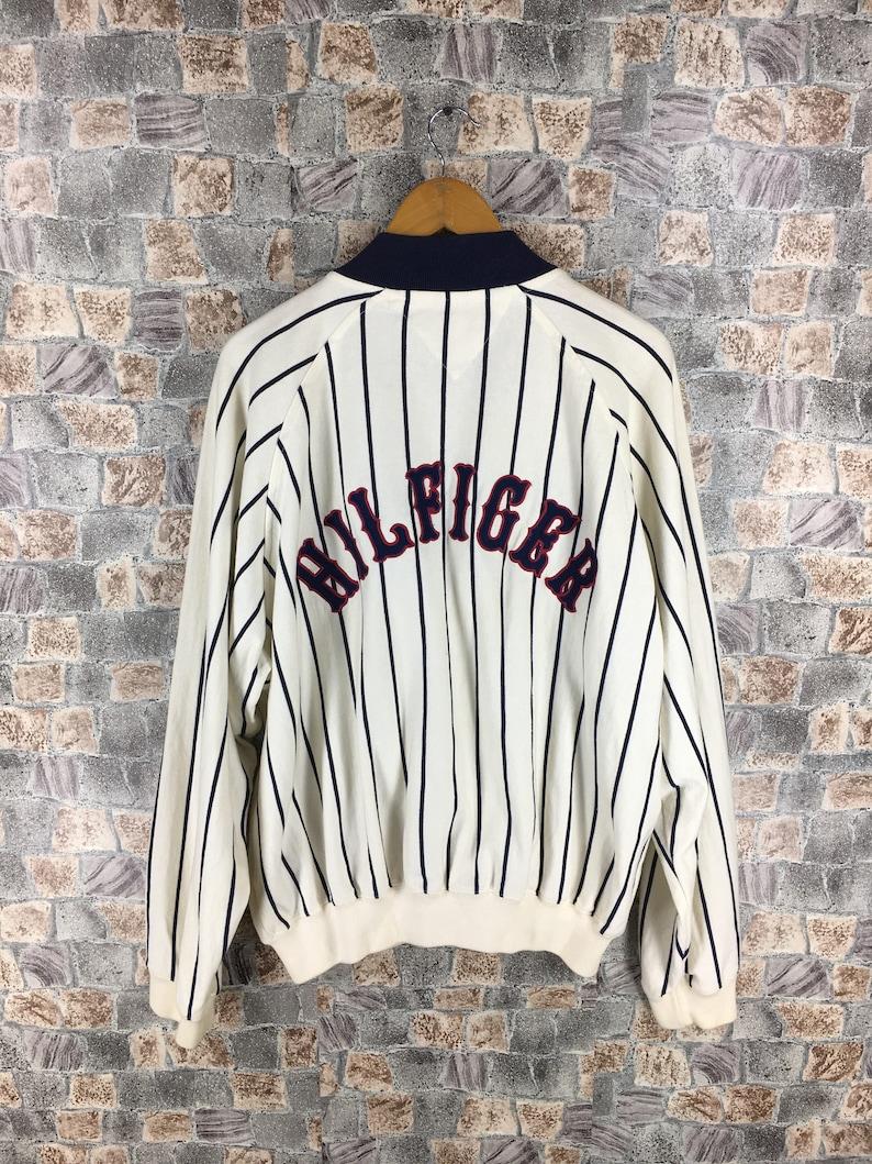 bb31189e5 Vintage TOMMY HILFIGER Baseball Jacket XLarge 90's | Etsy