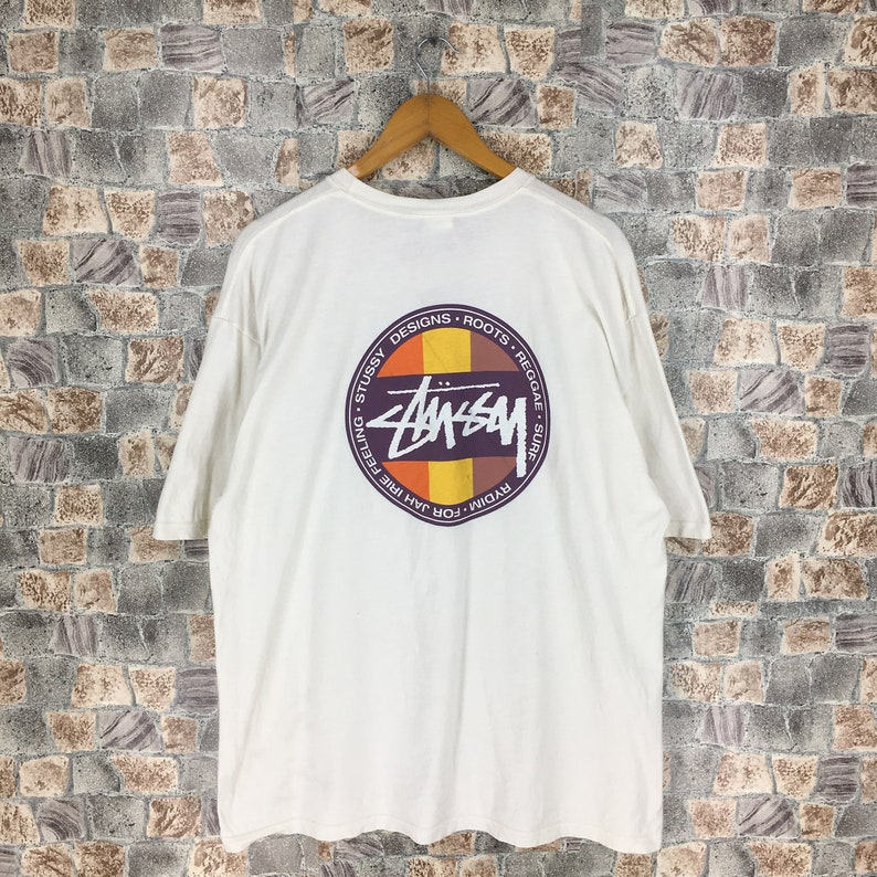 10c8650c Vintage STUSSY USA Tshirt XLarge 90's Stussy Big Logo | Etsy