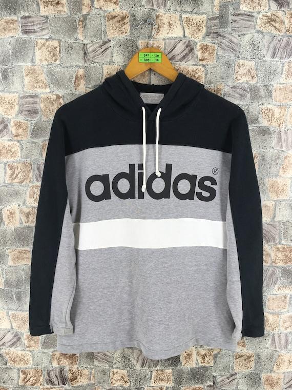 85e1624b1ab53 ADIDAS Trefoil Sweatshirt Hoodie Small Vintage 80s Adidas Run   Etsy