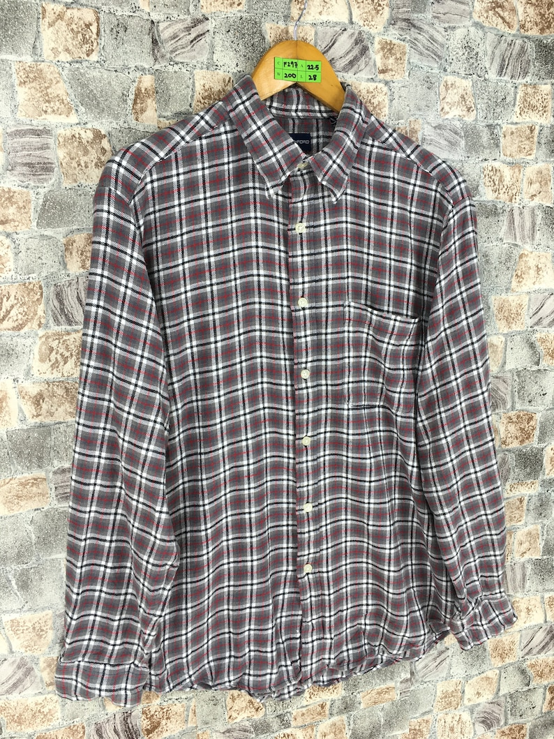 e3e4855b0 JOHN ASHFORD FLANNEL Checkered Shirt Unisex Medium Shadow | Etsy