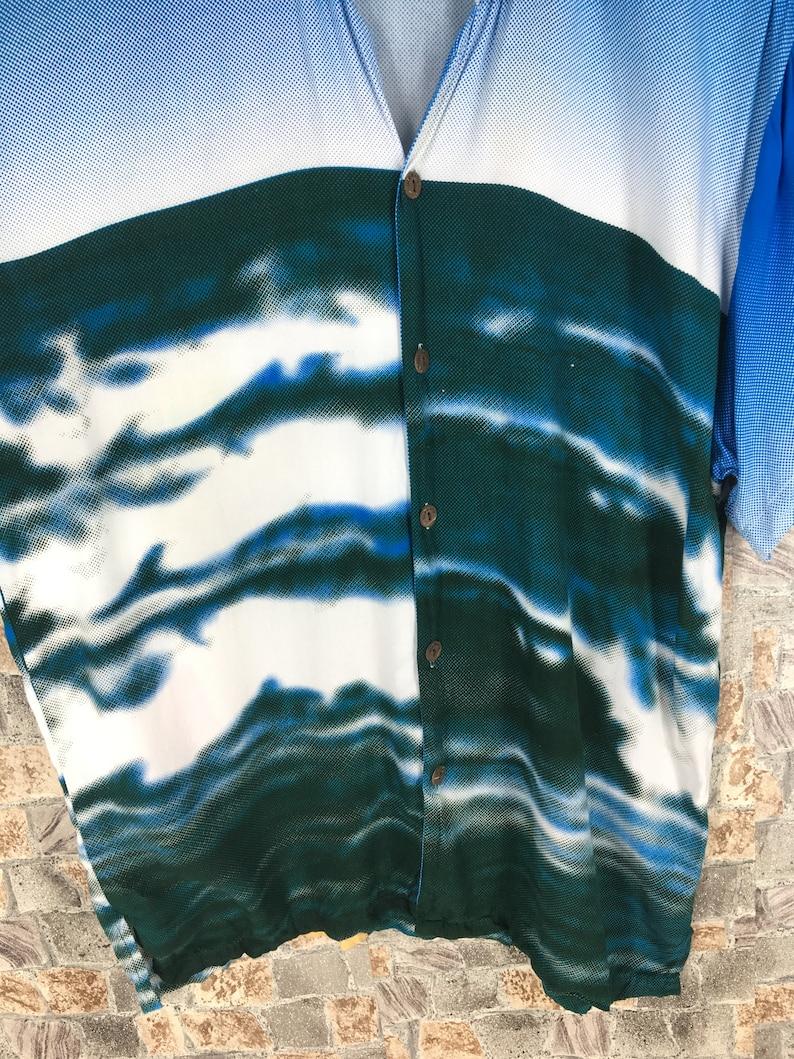 HAWAIIAN SURF Rayon Shirt Mens Xlarge Vintage 80/'s Hawaii Aloha Ocean Beach Surfing Boy Printed Multicolor Beach Surf Rayon Shirt Size XL