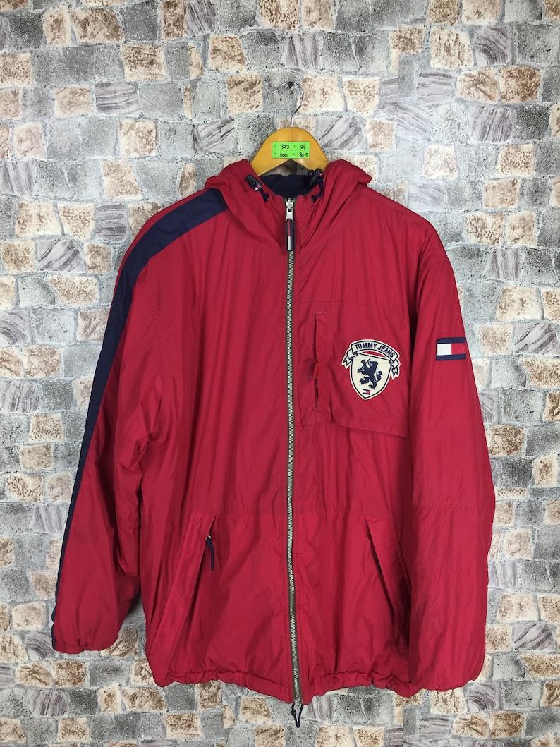 d2fa8cfb8f2ea3 TOMMY HILFIGER Hoodie Jacket Medium Vintage 90s Tommy Jeans | Etsy
