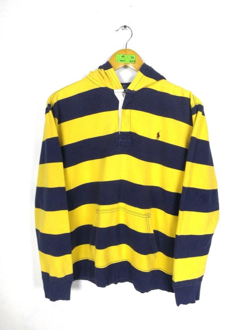 870646661822 Vintage POLO Ralph Lauren Hoodie Sweatshirt Medium 90 s