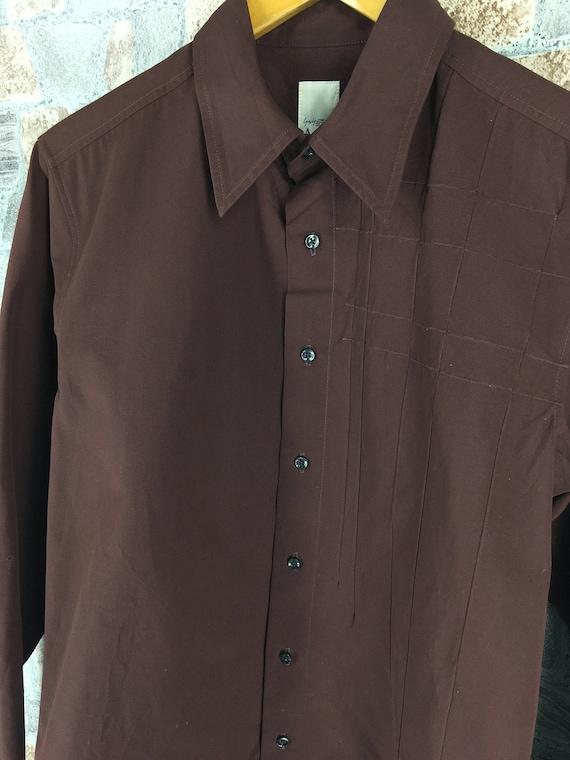 Oxfords Shirt Yamamoto Durban Y's Yohji Japan Designer Medium M Brown Men Buttondown For Mens AAR Size TH7q1q