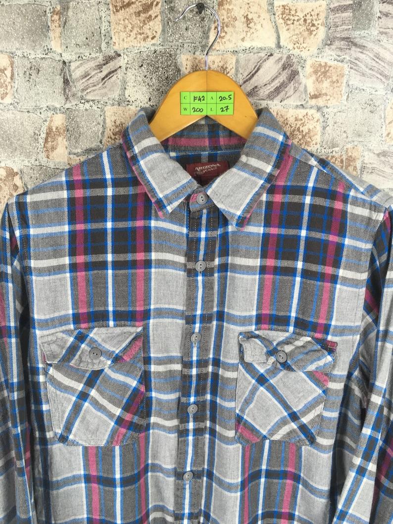 FLANNEL Checkered Shirt MenWomen Medium Plaid Checkered Multicolour 90s Indie Boho Grunge Buttondown Plaid Flannel Oxfords Size M