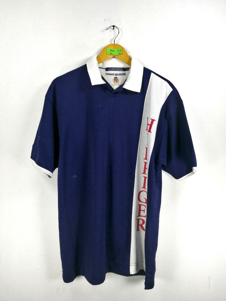 175362ad1 Vintage 90's TOMMY HILFIGER Shirt Men Medium Vintage Hip   Etsy