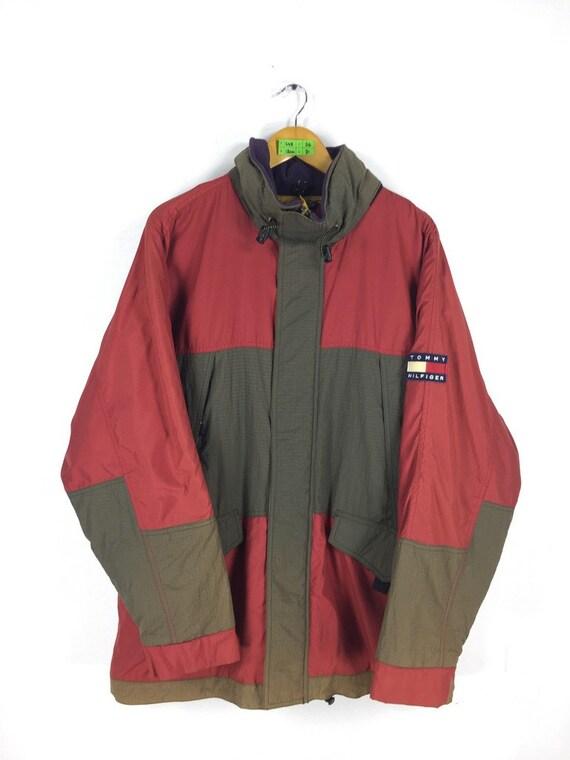 TOMMY HILFIGER veste sweat à capuche Vintage grand 90   s   Etsy 6be286b75647