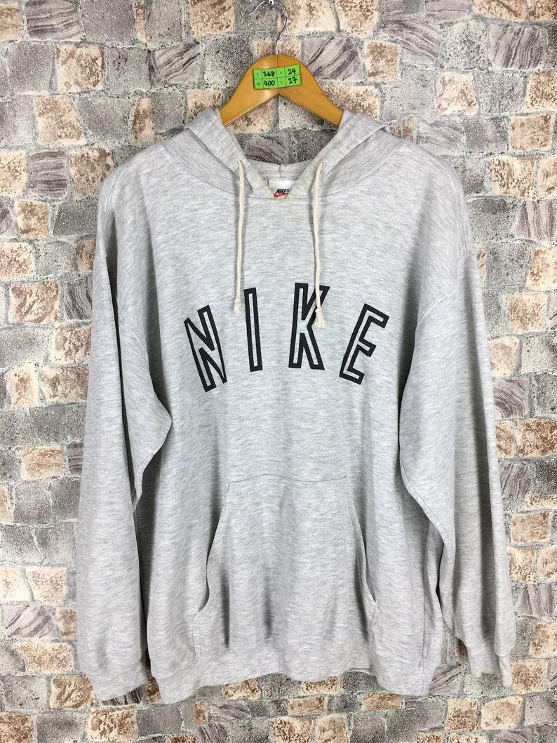 81da30d1cba74 NIKE Hoodies Sweatshirt Xlarge Vintage 90's Nike Swoosh Spell Out  Sportswear Jumper Jordan Sports Hoodie Pullover Nike Air Sweater Gray XL
