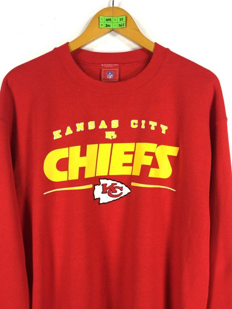 00f91fd7af3 KANSAS CITY Chiefs Nfl Sweatshirt Men Medium 80s Vintage Kc