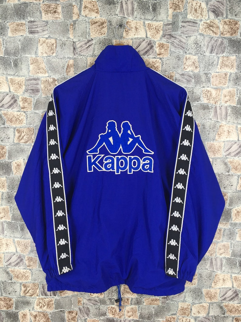 1bc92344 KAPPA Track Jacket Medium Streetwear Vintage 90's Kappa Italia Windbreaker  Sportswear Trainer Sports Kappa Blue Ribbon Jacket Size M