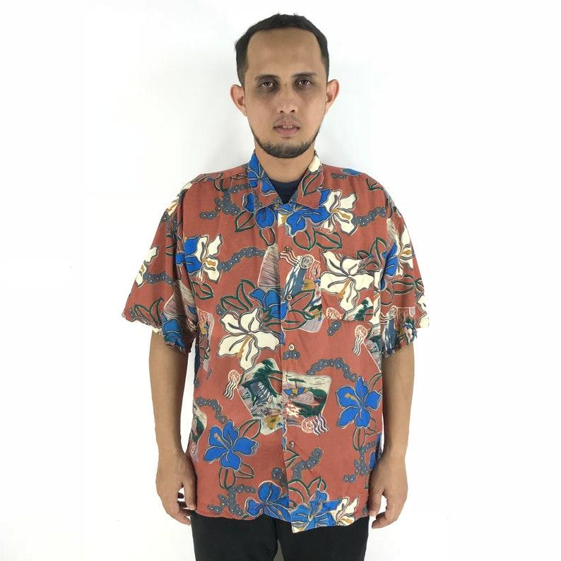 1dd2e193 Vintage MACHOPE 80s HAWAIIAN Shirt Large Aloha Tropical Floral | Etsy
