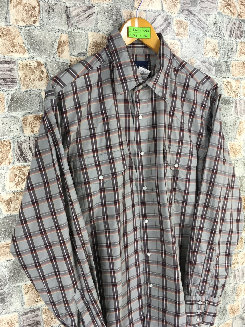8b4f30d6 Vintage WRANGLER Flannel Shirt Unisex Large Plaid Checkered | Etsy