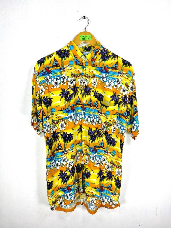 d94c802c0 Vintage 80's Hawaiian Shirt Medium Aloha Beach Rockabilly | Etsy