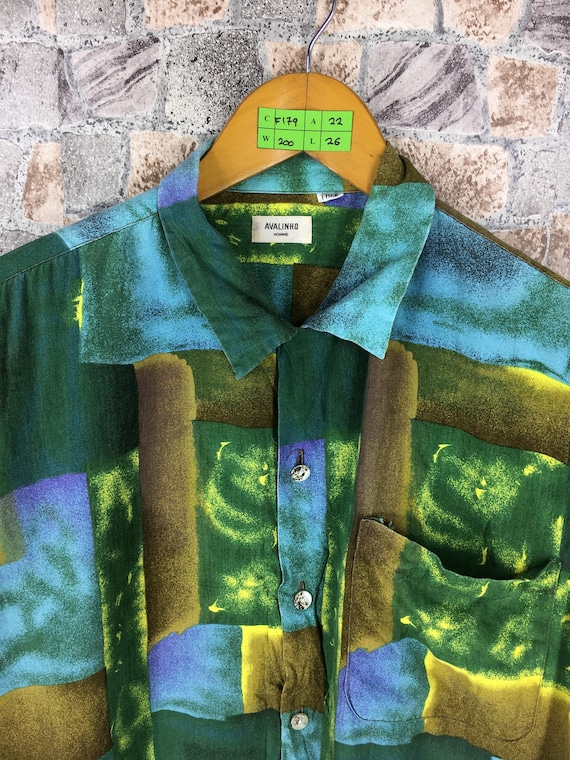 Comme Shirt Medium Art Abstract Vintage AVALINHO HOMME Des Size Baroque Shirt Silk Novelty Y's Colourful M Vintage Yohji Pop qx7fHwH
